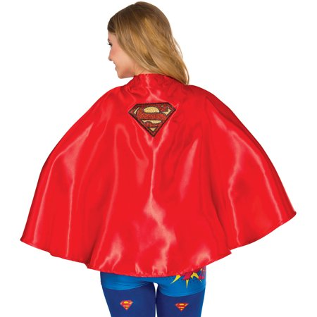 Supergirl Cape Adult Halloween Accessory for $<!---->