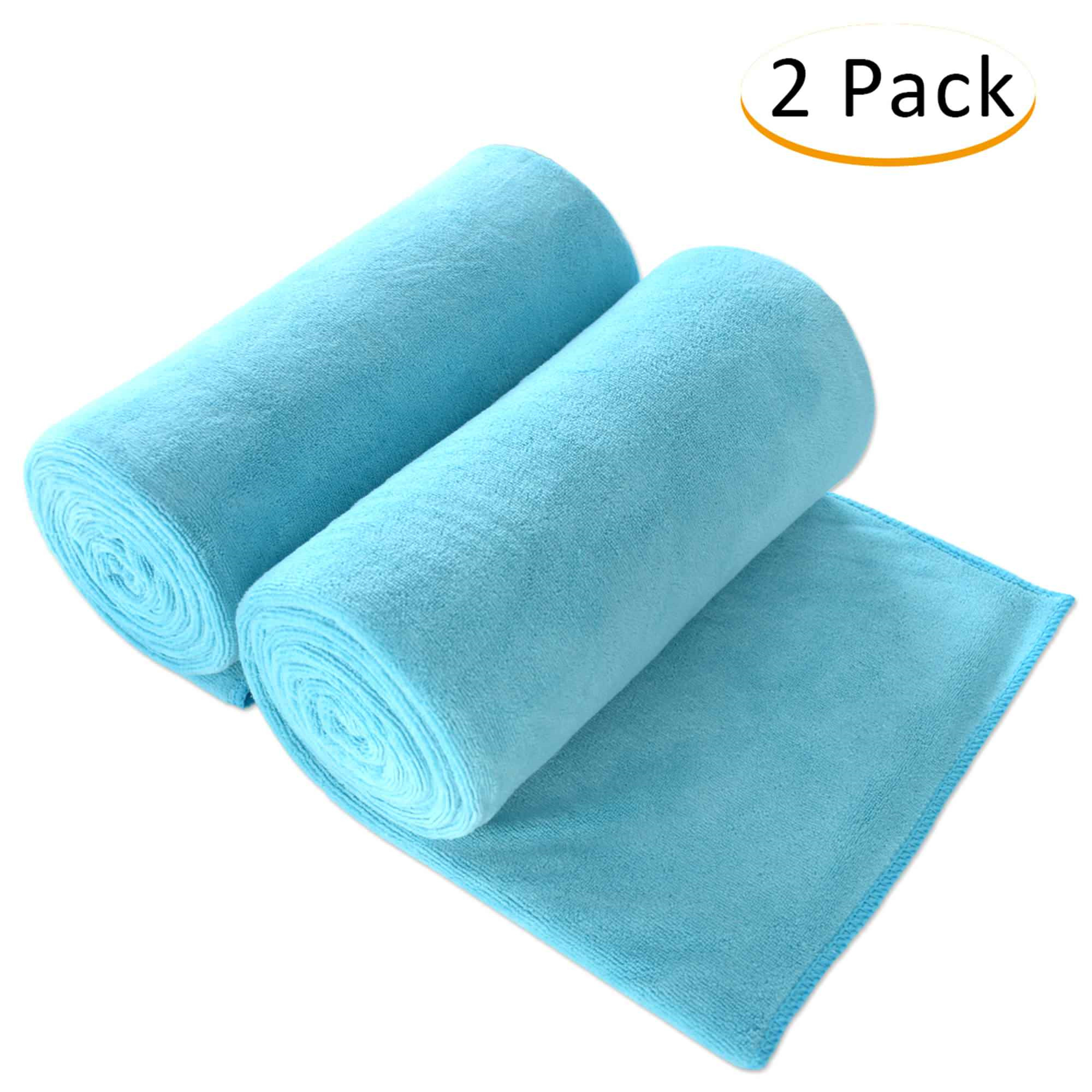 """JML Bath Towel 100% Microfiber 2 Pack Towel Sets (30"""" x 60"""") - Extra Absorbent, Fast Drying,Solid Color - Walmart.com"""