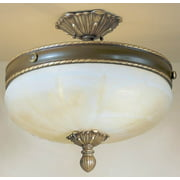 Alexandria II 4-Light Ceiling Flush (Victorian Bronze - No Crystal)