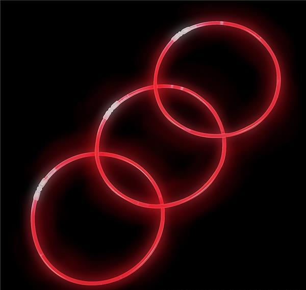 "22"" RED GLOW NECKLACE, Case of 12"