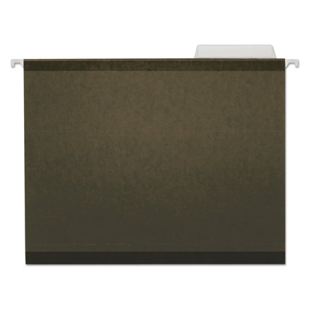 Universal Reinforced Recycled Hanging Folder, 1/3 Cut, Letter, Standard Green, 25/Box (Recycled Reinforced)