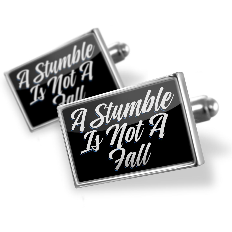 Cufflinks Classic design A Stumble Is Not A Fall - NEONBLOND