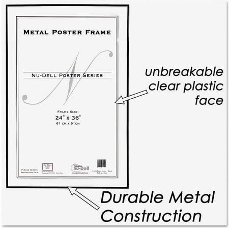 nudell metal poster frame plastic face 24 x 36 black. Black Bedroom Furniture Sets. Home Design Ideas
