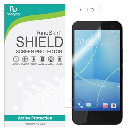 HTC U11 Life Screen Protector RinoGear Flexible HD Crystal Clear Anti-Bubble Unlimited Replacement Film (Hkc Replacement Screen)
