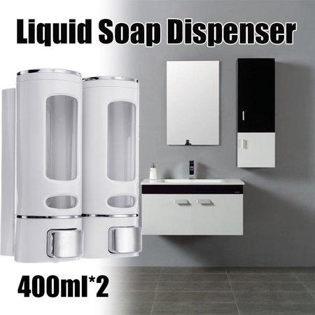 400ml*2 Bathroom Soap Dispenser Press Type Wall-mounted Soap Liquid Box - image 1 de 7