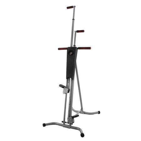 BestEquip Vertical Climber 440LBS Stepper Climbing Machine Exercise Equipment Climber for Home Gym Exercise Climber Machine Stepper Cardio Climbing System Fitness Workout Grey