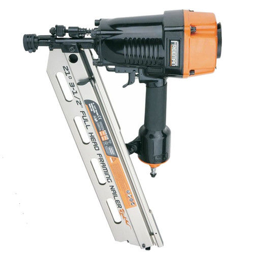 "Freeman PFR2190 Pneumatic 21 Degree 3-1/2"" Full Head Framing Nailer"