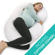 PharMeDoc Pregnancy Pillow - C Shaped Maternity Body Pillow for Pregnant Women