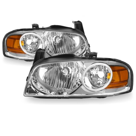 For 2004 2005 2006 Nissan Sentra Sedan Chrome Headlights Left+Right Replacement 2005 Nissan Sentra Led
