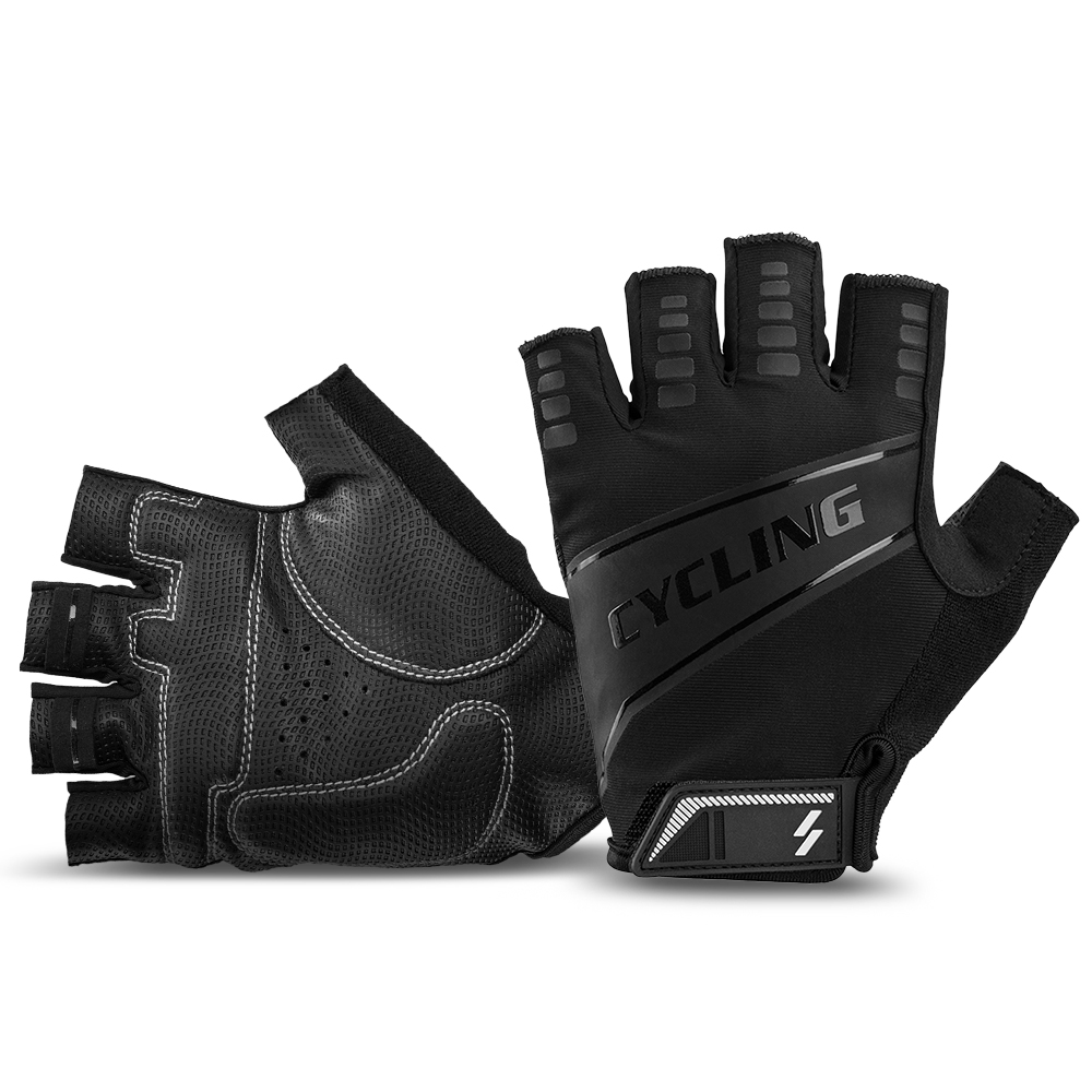 1 Pair Sport Cycling Motorcycle Gloves Half Finger Breathable for Outdoor Riding