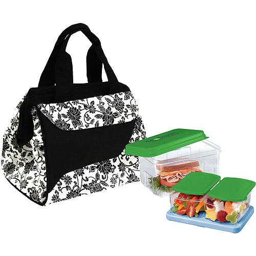 Fit & Fresh Downtown Lunch Kit, Ebony