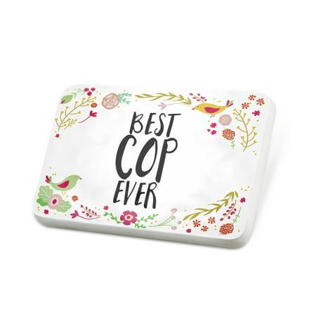 Porcelein Pin Happy Floral Border Cop Lapel Badge – NEONBLOND](Cop Badge)