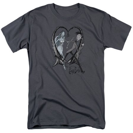 Trevco CORPSE BRIDE RUNAWAY GROOM Charcoal Adult Unisex T-Shirt](Corpse Bride Emily)