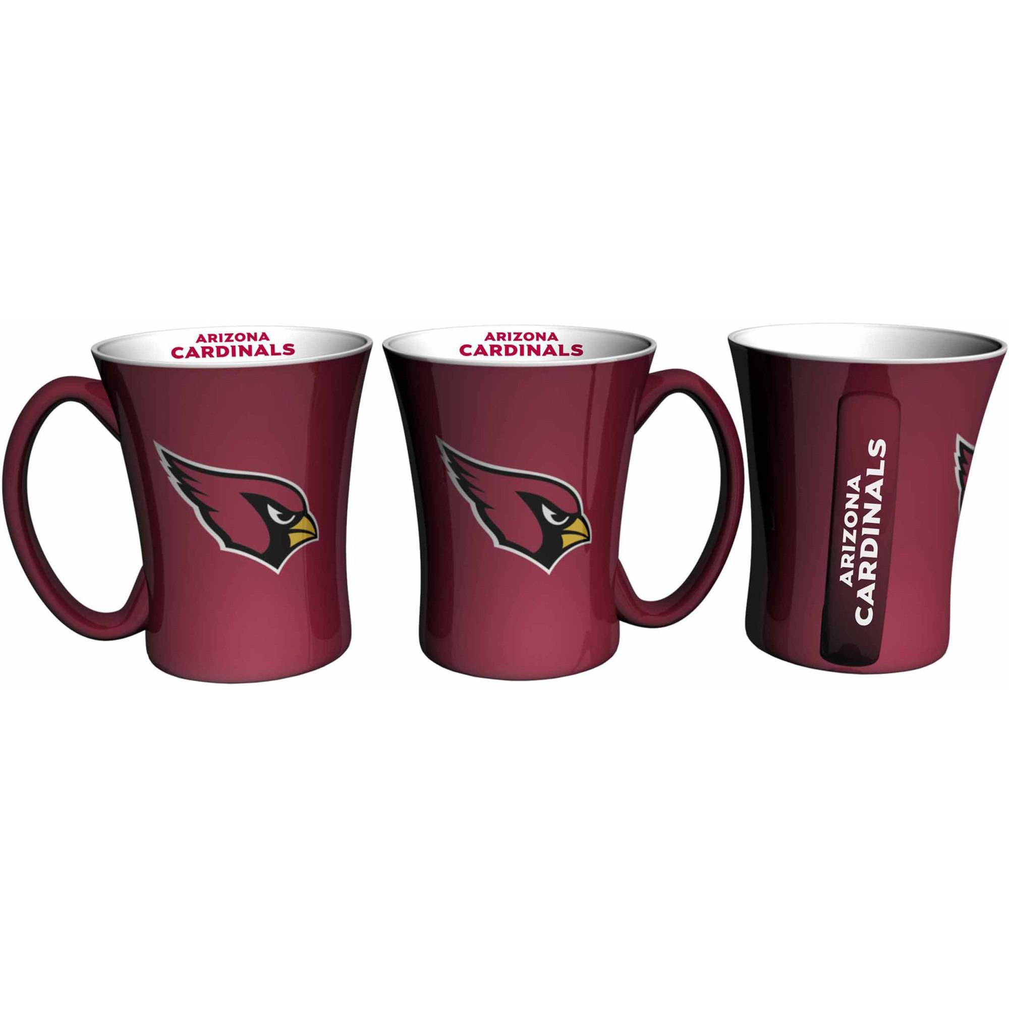Boelter Brands NFL Set of Two 14 Ounce Victory Mugs, Arizona Cardinals