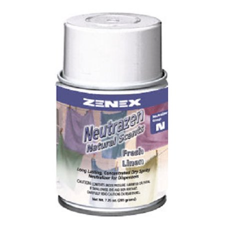 Zenex Neutrazen Fresh Linen Scent Metered Odor Neutralizer - 12 Cans (Case) Scent Metered Odor Neutralizer