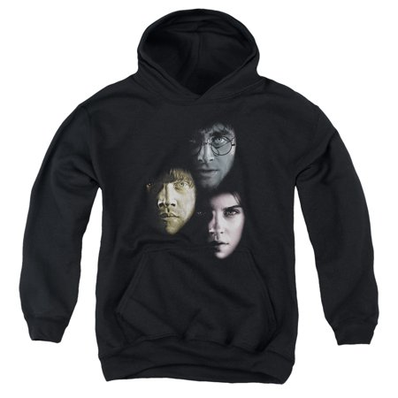 Harry Potter Hero Heads Big Boys Youth Pullover Hoodie
