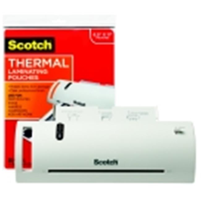 Scotch Thermal Laminator Value Pack With Laminator, 20 Letter Size Pouches