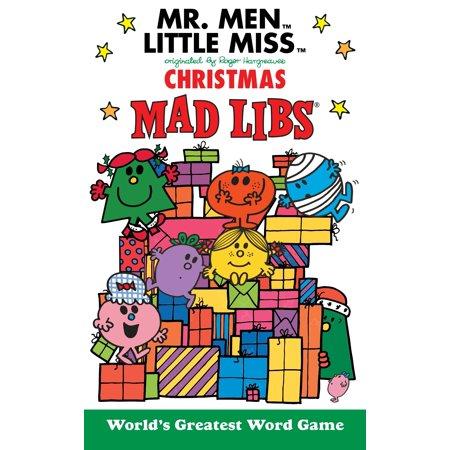 Mr. Men Little Miss Christmas Mad Libs