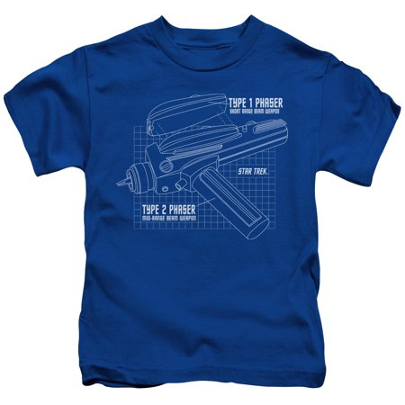 Star Trek/Phaser Plans Little Boys Juvy Shirt - Phaser Gun