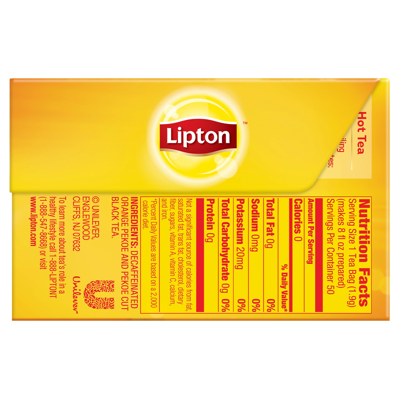Lipton Decaffeinated Black Tea, Tea