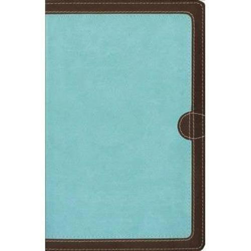 Holy Bible: New International Version, Chocolate / Turquoise, Italian Duo-Tone, Thinline Bible