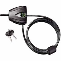 Master Lock Cable Bike Lock 8417D Python Adjustable, 6ft (1.8m) Long x 3/16in (5mm) Diameter, Silver and Black