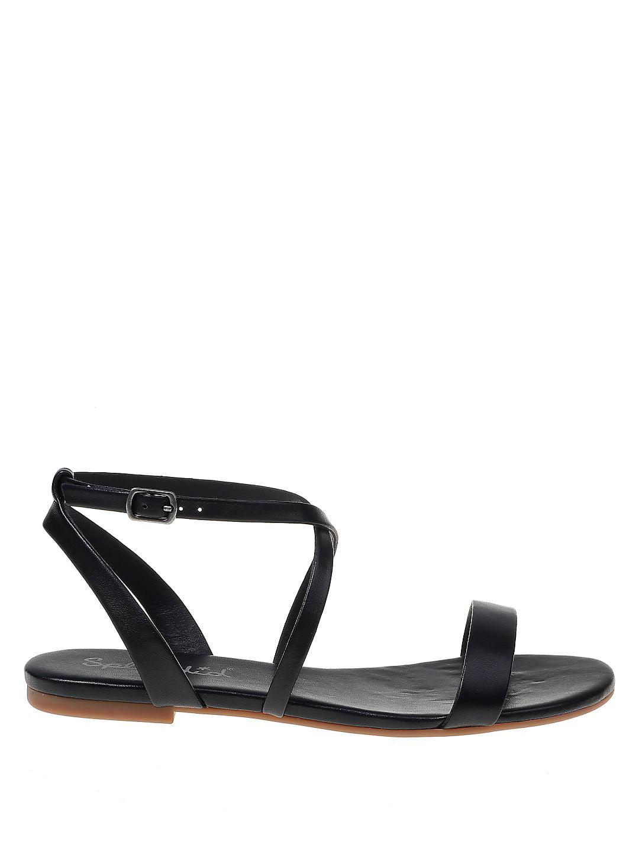 Susannah Ankle-Strap Leather Sandals