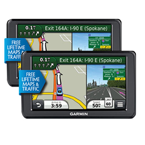 "Refurbished Garmin Nuvi 2555LMT (2-Pack) 5"" GPS with Lifetime Maps & Traffic Updates"