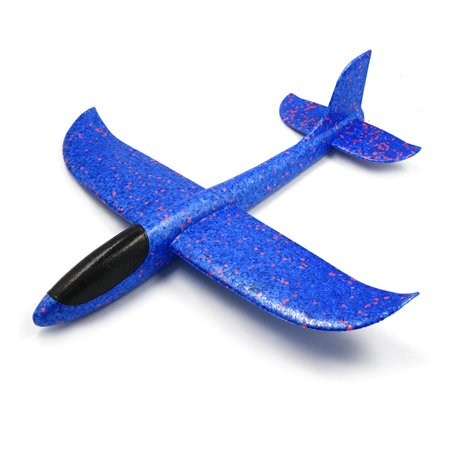 Kids Hand Throw Flying Glider Planes Toys Foam Aeroplane Model Party Favor Plane Toys For Kids Game Color:blue (Flying Model Toy)