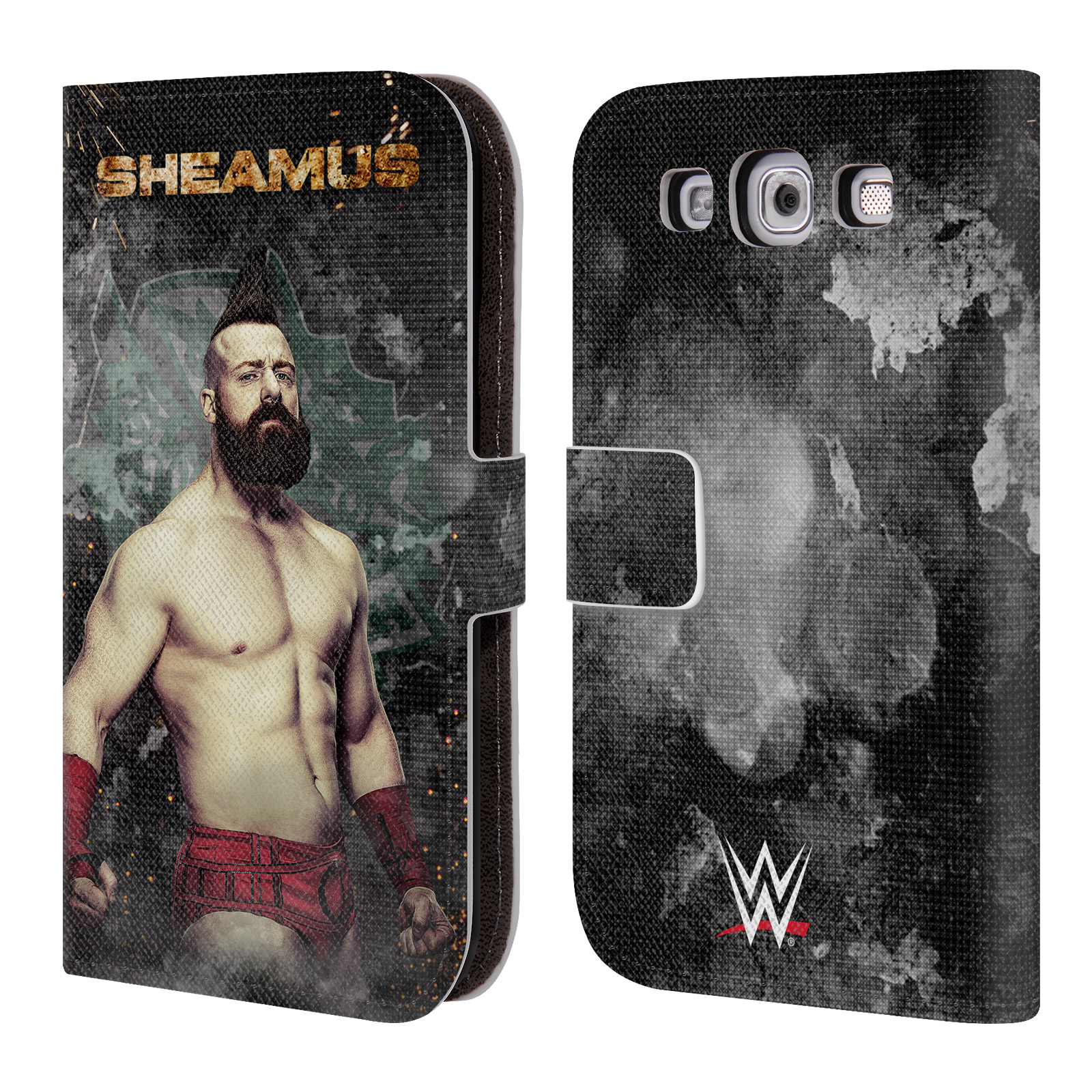 Official Wwe Sheamus Leather Book Wallet Case Cover For Samsung