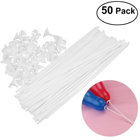 TINKSKY 50pcs 40CM Child Safety Balloon Cup with Stick Holder (White) for $<!---->