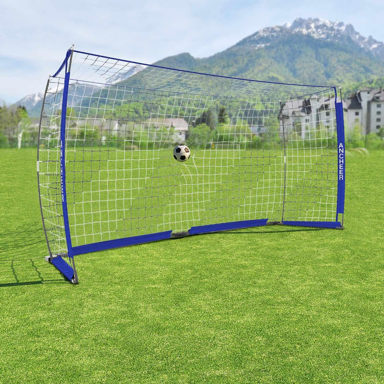 Soccer Goal 12ft x 6 ft Portable Bow Style Net Perfect For Soccer HFON