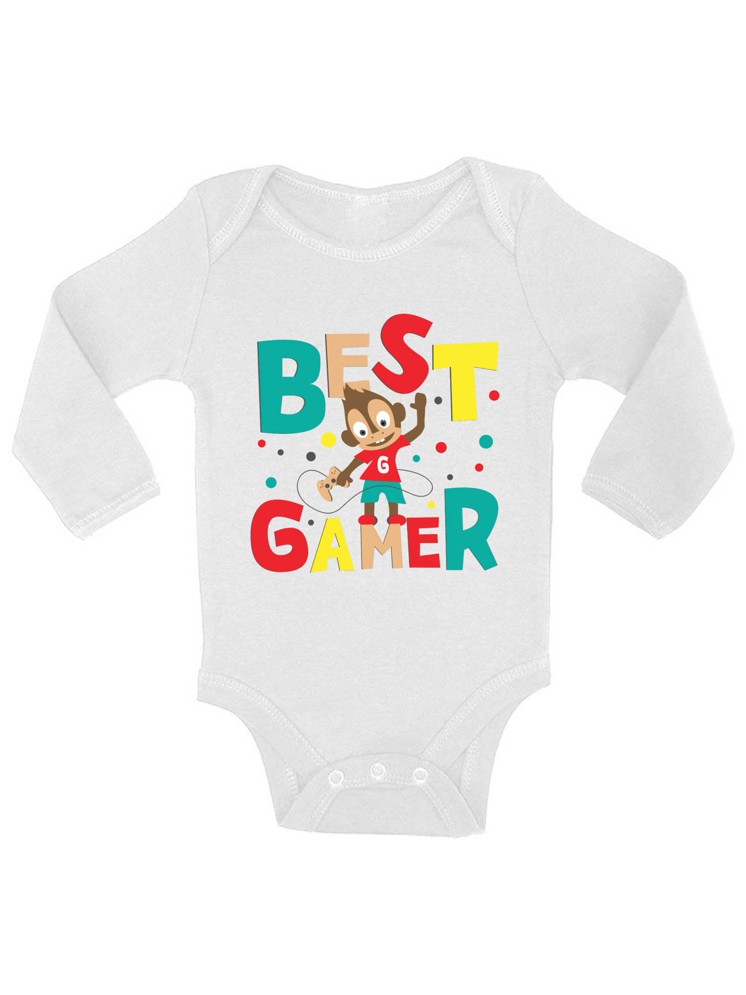 Baby boy video game bodysuit