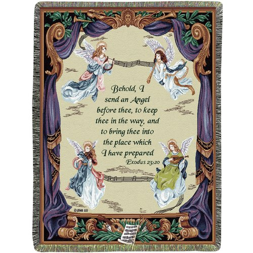 Manual Woodworkers & Weavers Angel Symphony Tapestry Cotton Throw