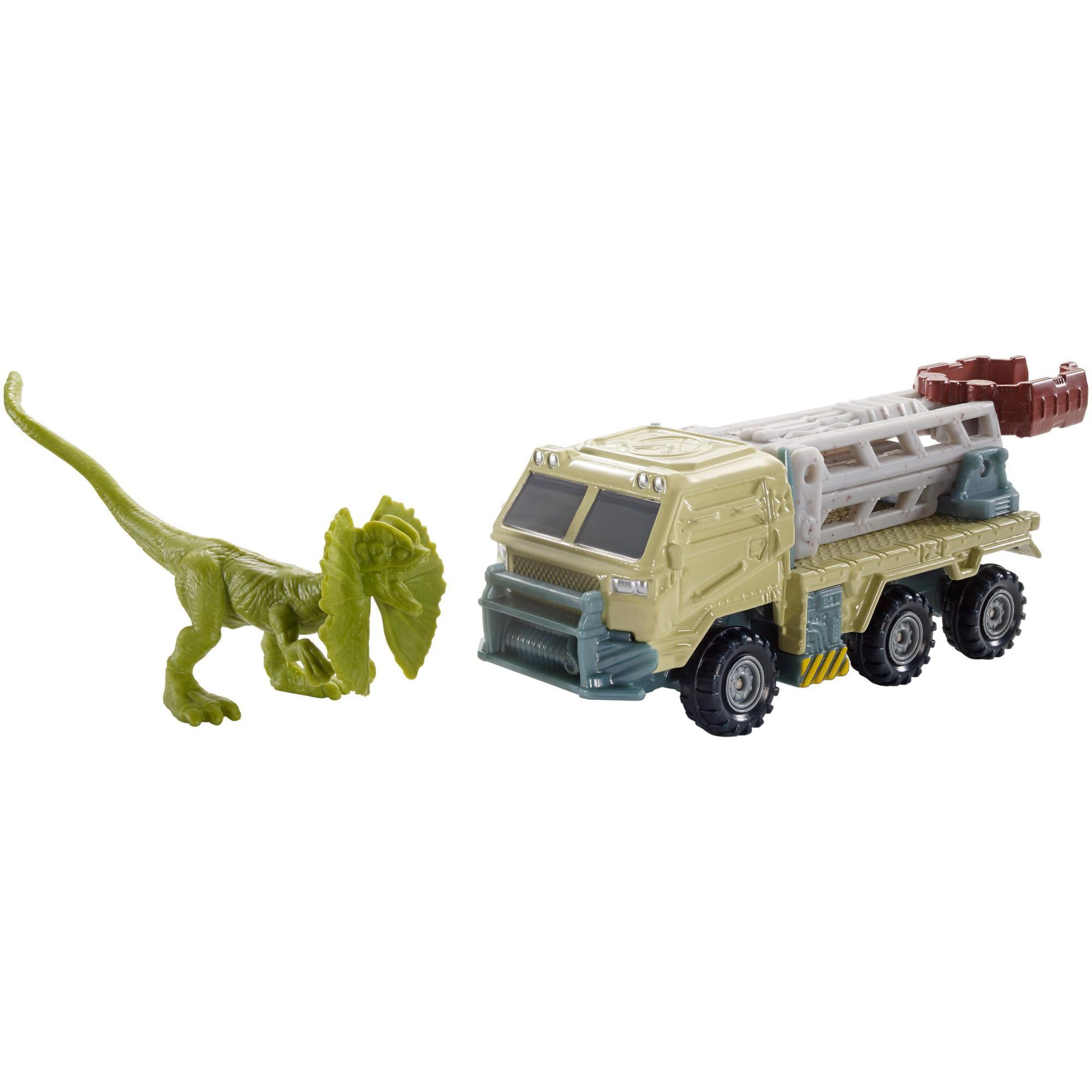 Matchbox Jurassic World Dino Transporters Dilopho-loader Vehicle and Figure by Mattel