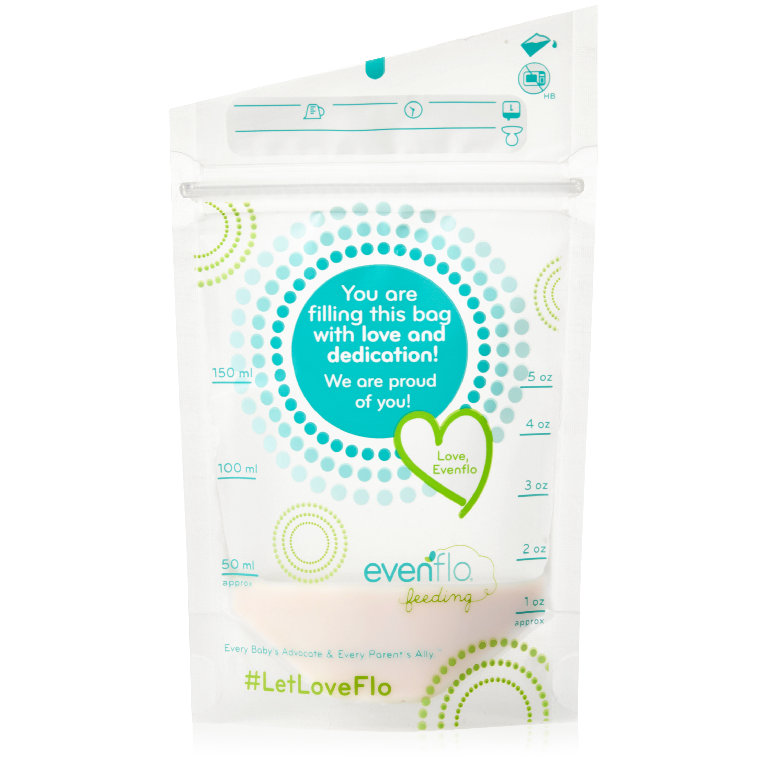 Evenflo Feeding Advanced Breast Milk Storage Bags - 5oz, 20ct