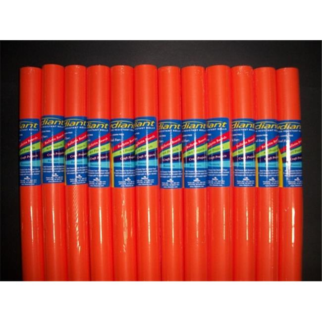 RiteCo Raydiant 80025 Riteco Raydiant Fade Resistant Art Rolls Orange 18 inch X 50 Ft.  12 Pack