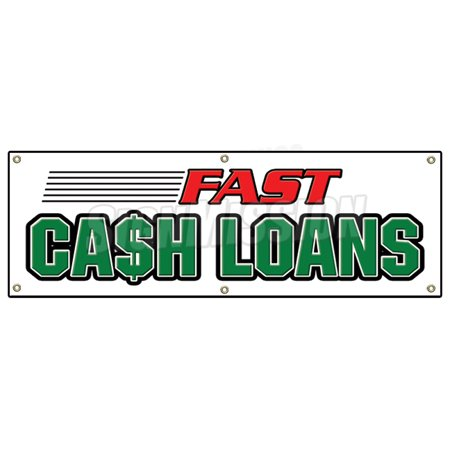 72  Fast Cash Loans Banner Sign Pawn Shop Signs Loan Quick Payday Advance Credit