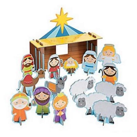 Nativity Playset, Manger Scene, Christmas Decoration](Manger Silhouette)