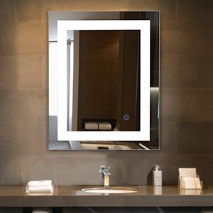 Led Lights Wall Mounted Bathroom Lighted Mirror Vanity Dimmable W Touch On