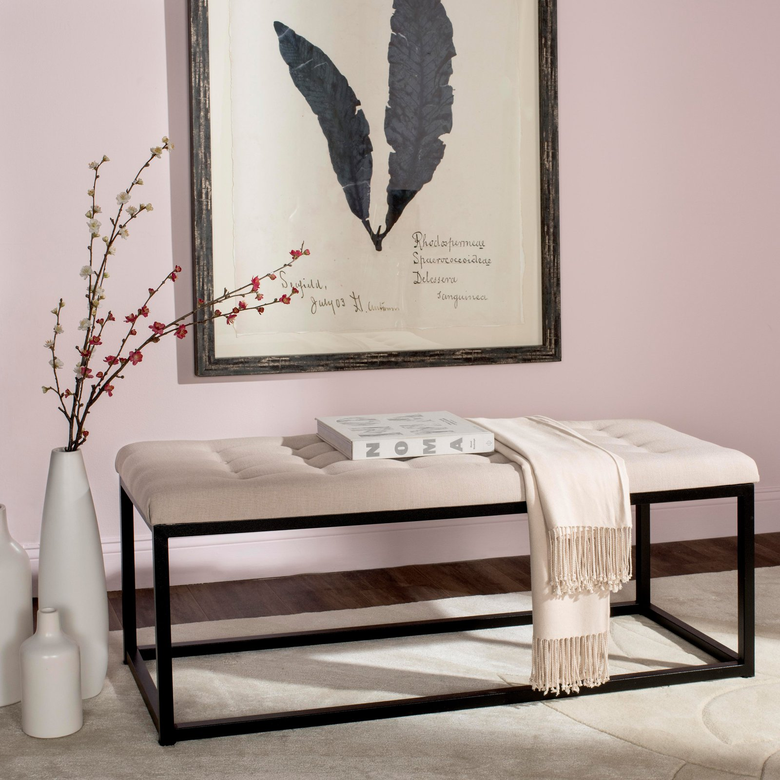 Safavieh Reynolds Bench, Multiple Colors