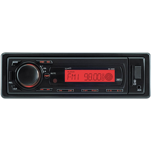 Supersonic Deckless AM/FM Receiver with MP3 Playback, USB/SD/AUX Input and Detachable Panel