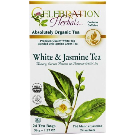 Celebration Herbals Blanc et Thé au jasmin bio, 24 Ct