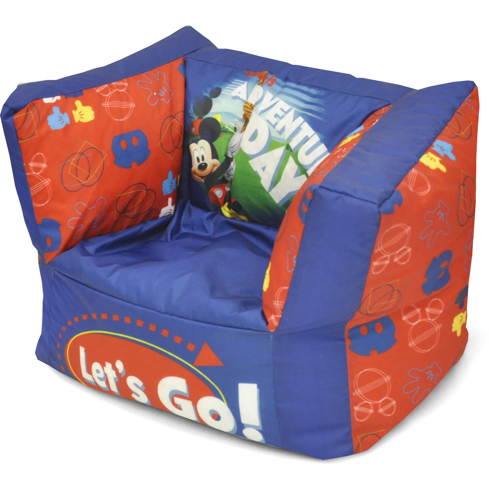 Mickey Mouse Square Bean Bag Chair - Walmart.com