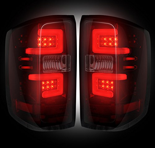 Chevy Silverado 14-15 (3rd GEN) LED TAIL LIGHTS - Dark Red Smoked Lens