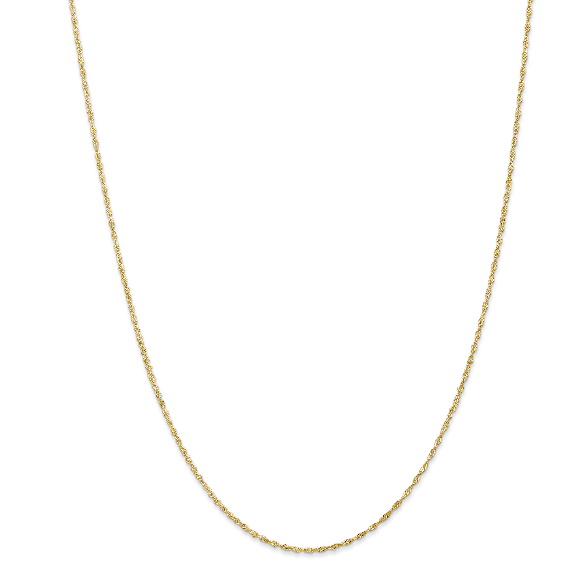 14K .80mm White Gold 18in Square Box Necklace Chain