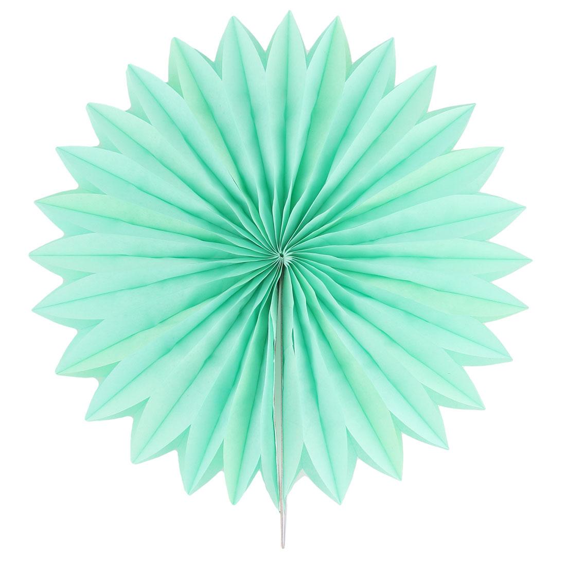 Tissue Paper Folding Fan Flower Green For Party Window Wedding