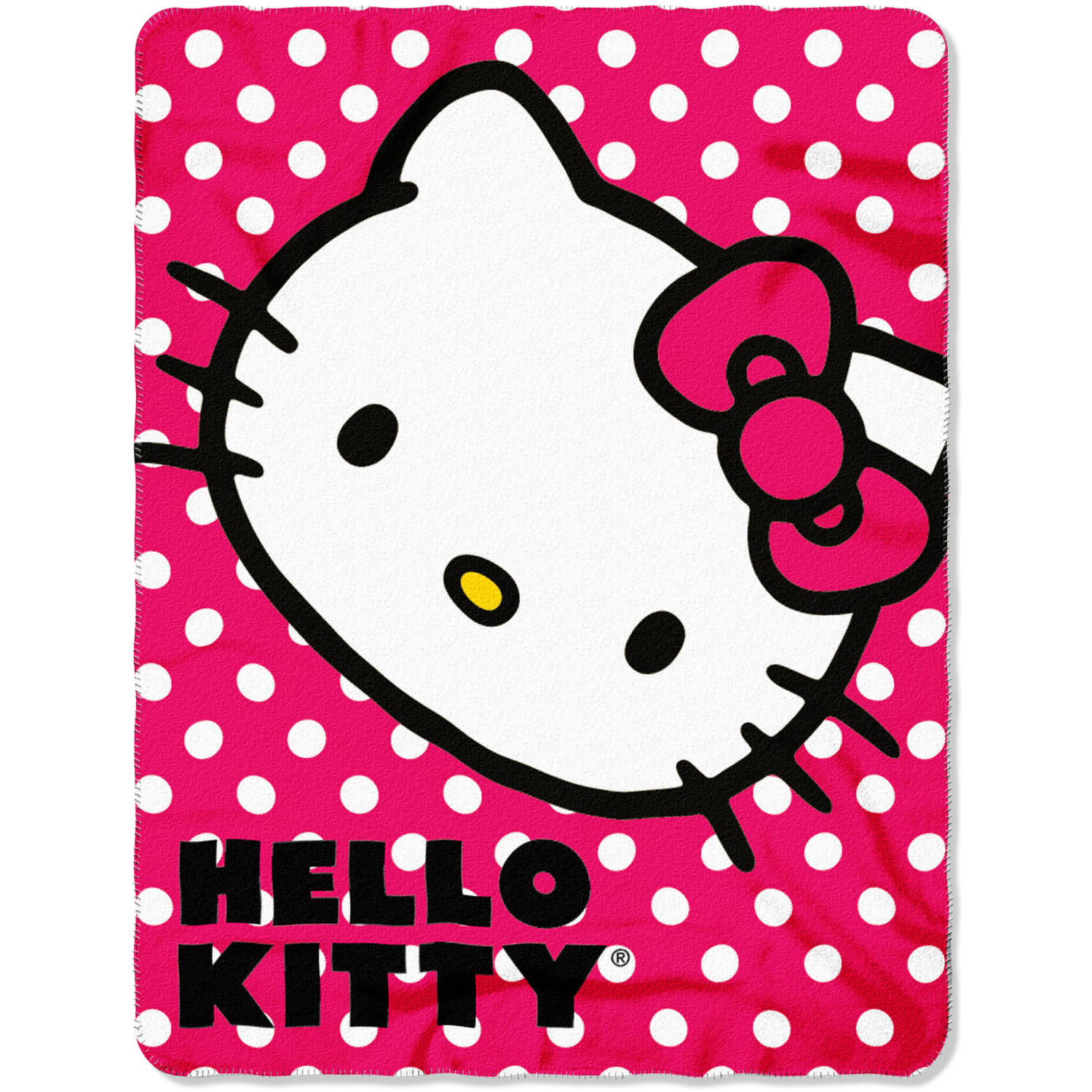 "Sanrio's Hello Kitty ""Polka Dot Kitty"" 45"" x 60"" Fleece Throw"