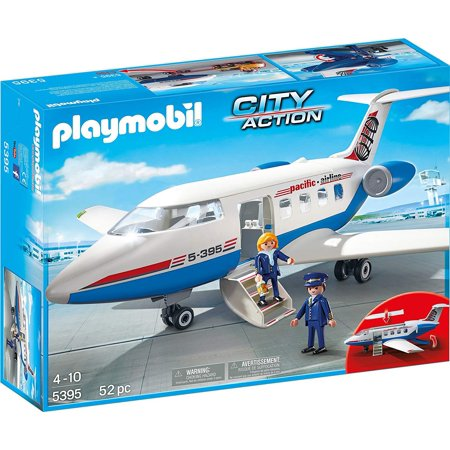 Passenger Plane City Action Building Set Playmobil Airplane Pilot - Gliding Plane