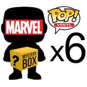 MARVEL MYSTERY BOX LOT of 6 Funko POP! Vinyl Figures [Completely Random, No Duplicates!]